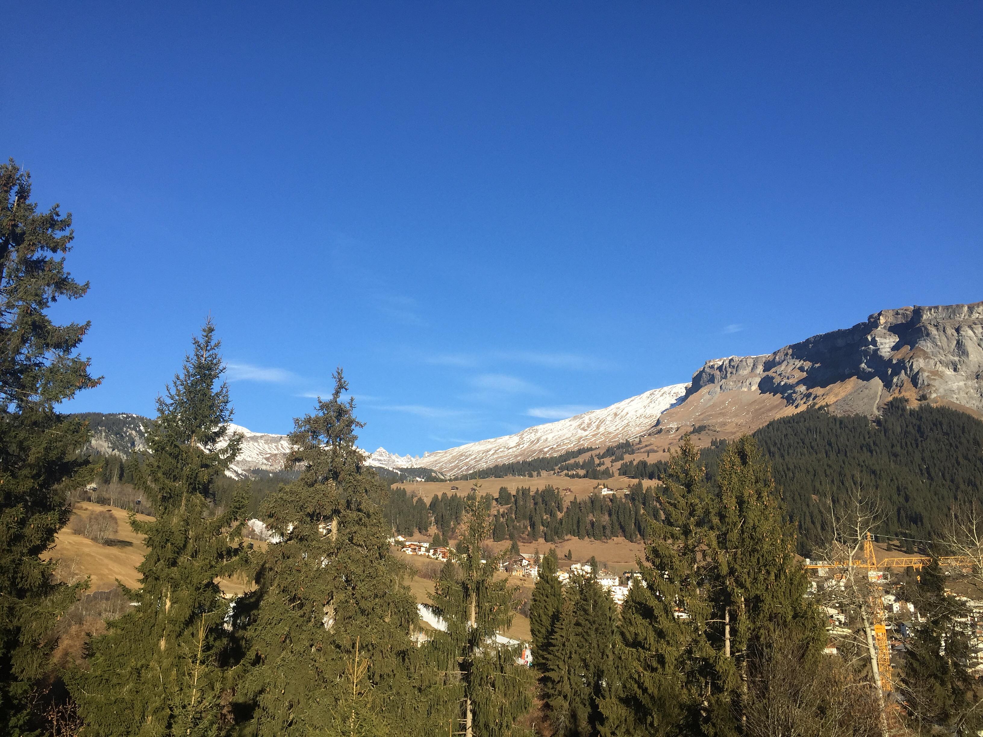 Dream of snowy Swiss Alps